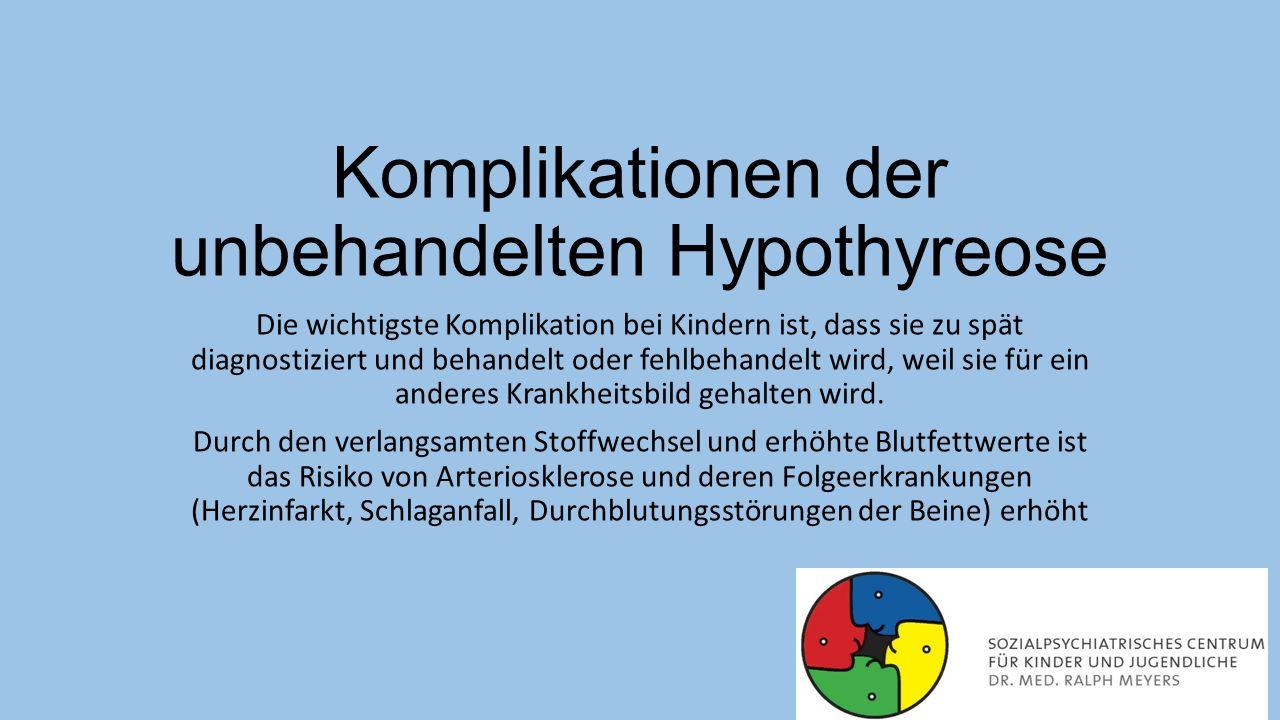Komplikationen der unbehandelten Hypothyreose