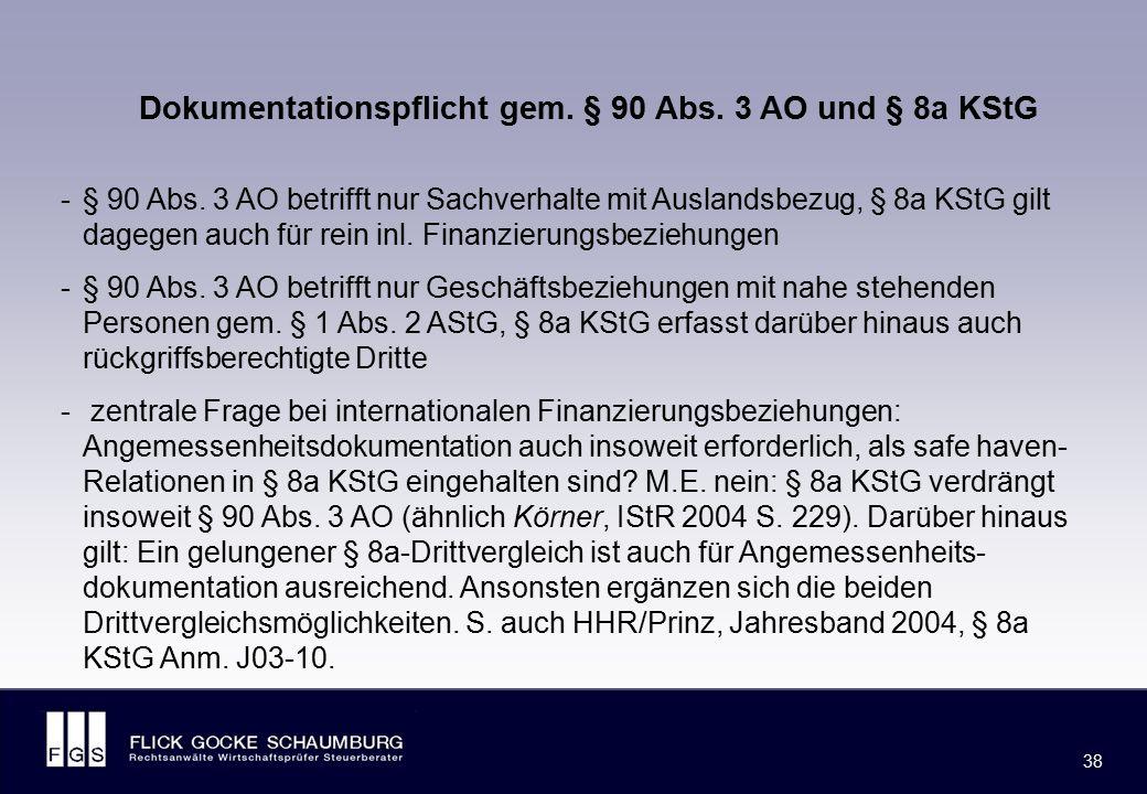 Spannungsverhältnis des § 8a KStG zu § 1 AStG