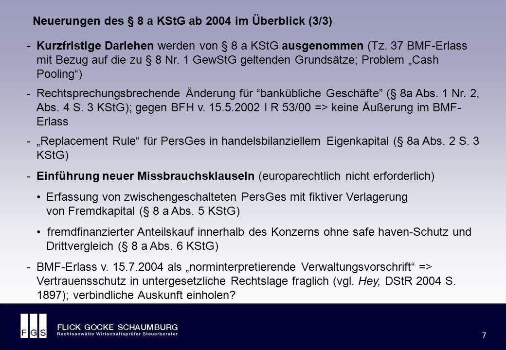 II. Grundfälle des BMF-Schreibens v. 15.7.2004