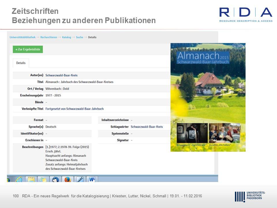 Zeitschriften Beziehungen zu anderen Publikationen