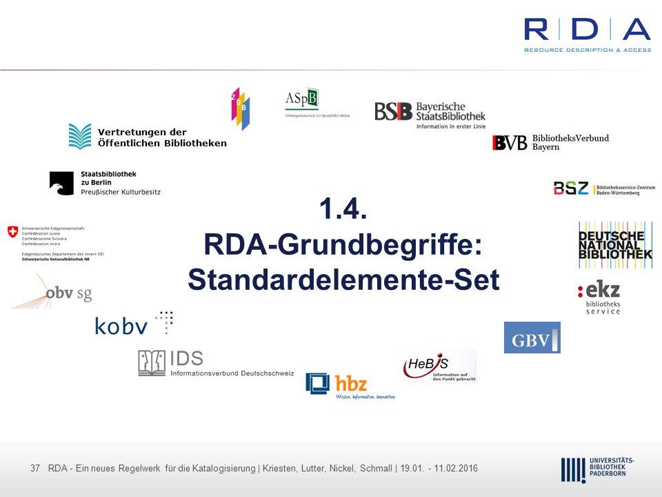 1.4. RDA-Grundbegriffe: Standardelemente-Set