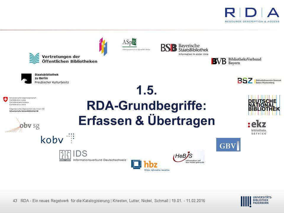 1.5. RDA-Grundbegriffe: Erfassen & Übertragen