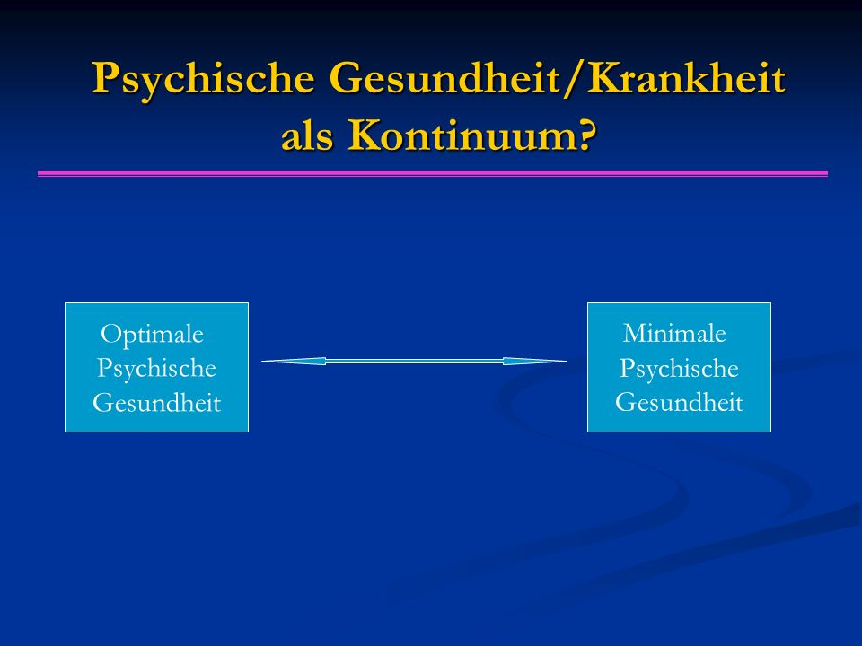 Psychische Gesundheit/Krankheit als Kontinuum