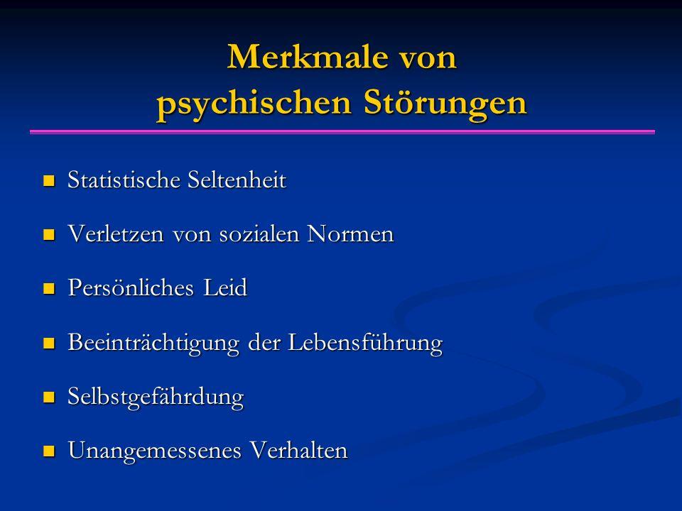 Merkmale von psychischen Störungen