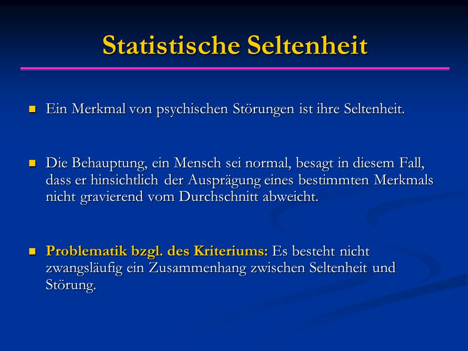 Statistische Seltenheit