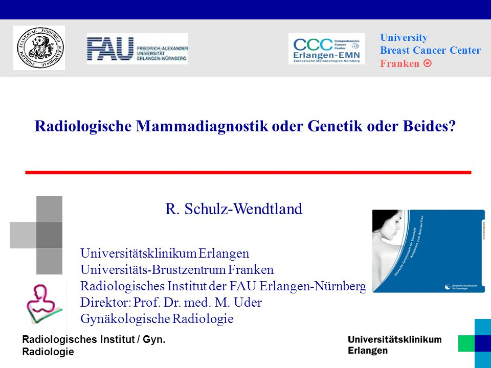 Radiologische Mammadiagnostik oder Genetik oder Beides