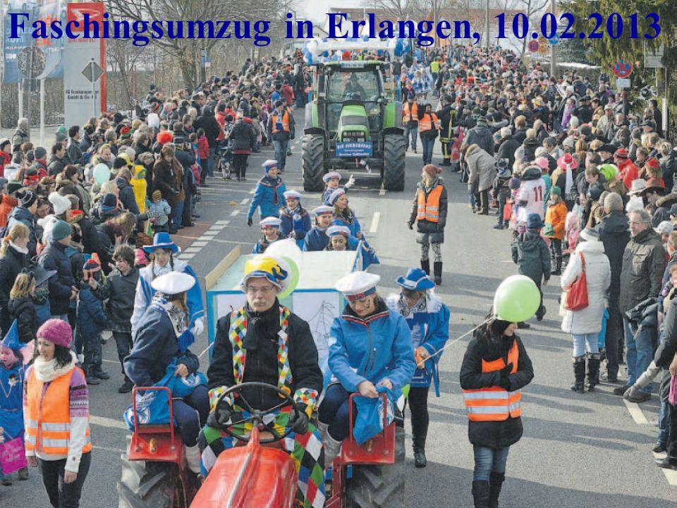 Faschingsumzug in Erlangen, 10.02.2013