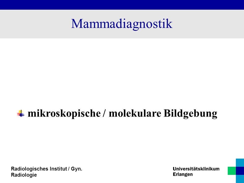 Mammadiagnostik mikroskopische / molekulare Bildgebung