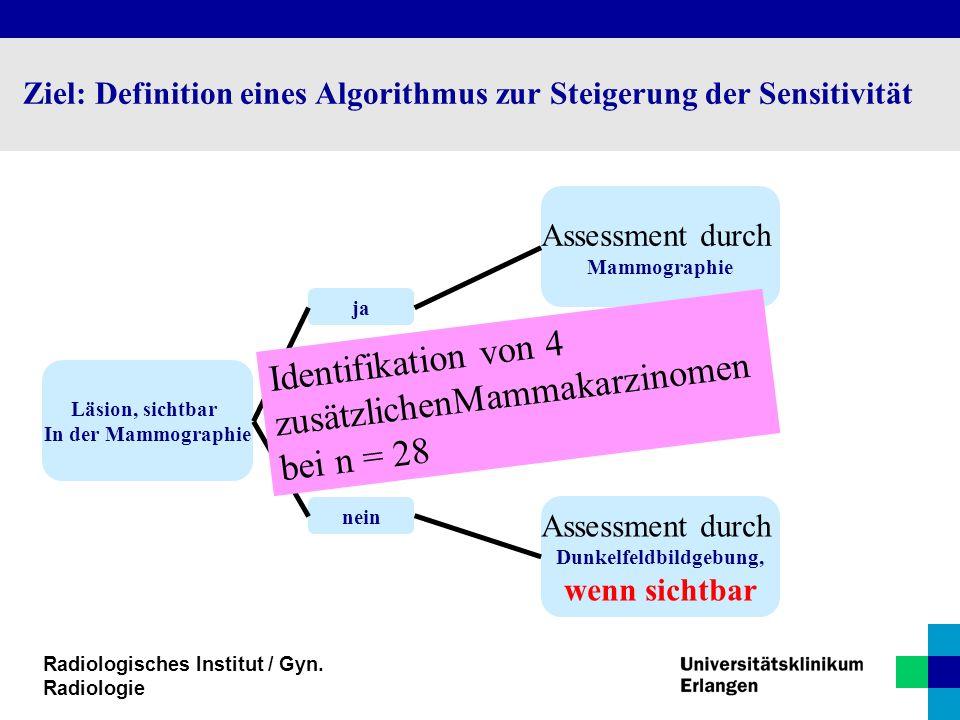 Ziel: Definition eines Algorithmus zur Steigerung der Sensitivität