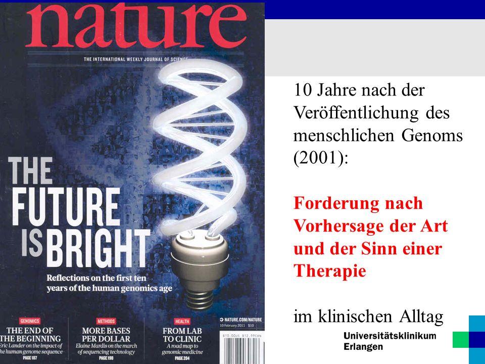 10 Jahre nach der Veröffentlichung des menschlichen Genoms (2001):
