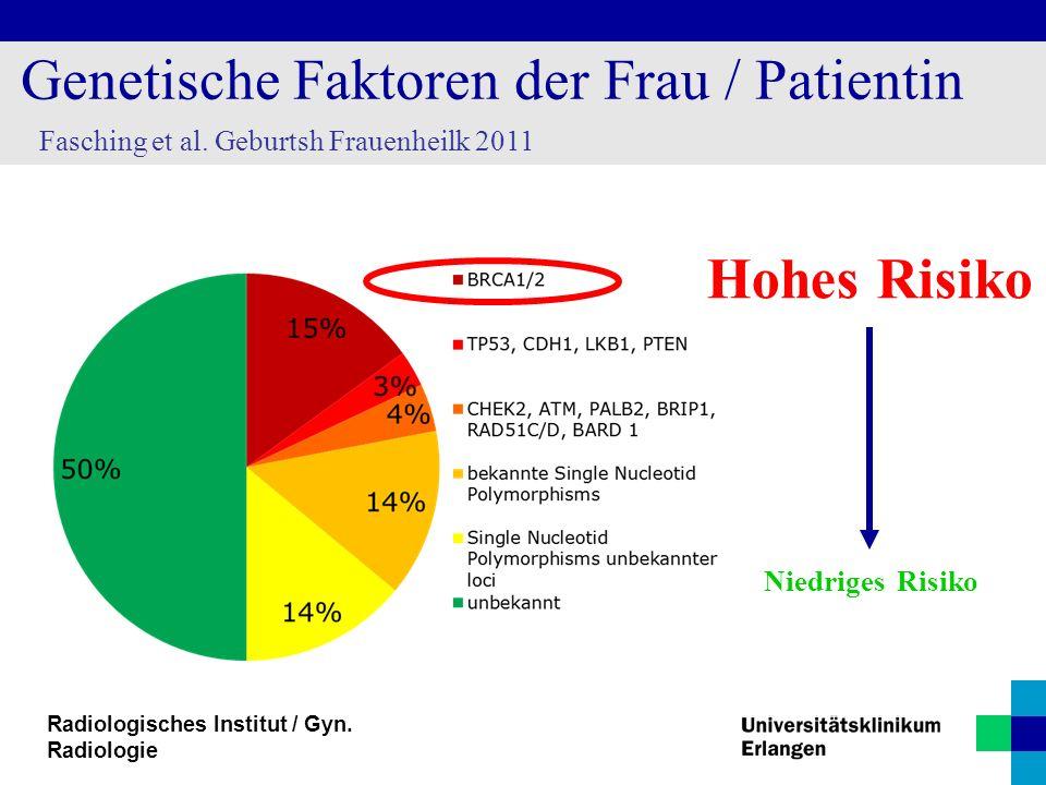 Genetische Faktoren der Frau / Patientin
