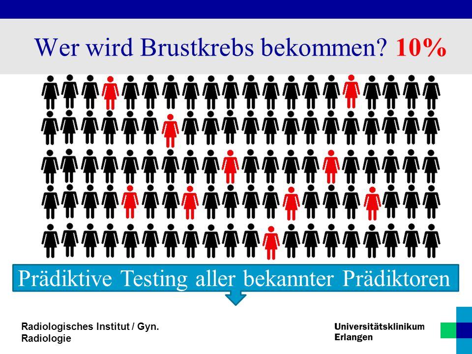 Wer wird Brustkrebs bekommen 10%