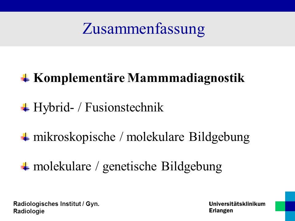 Zusammenfassung Komplementäre Mammmadiagnostik