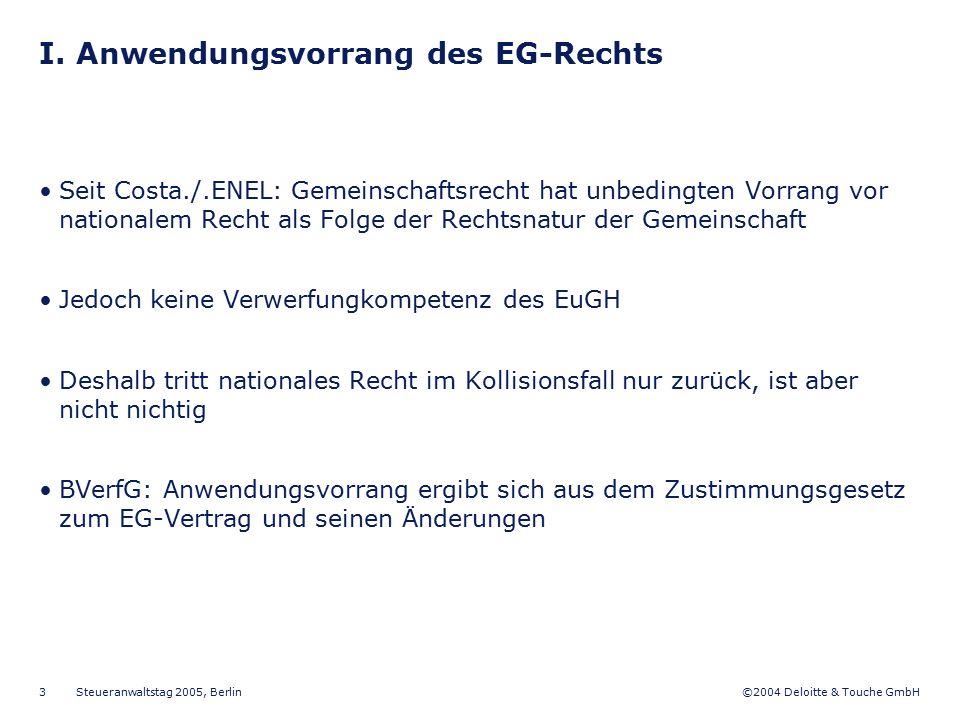 I. Anwendungsvorrang des EG-Rechts