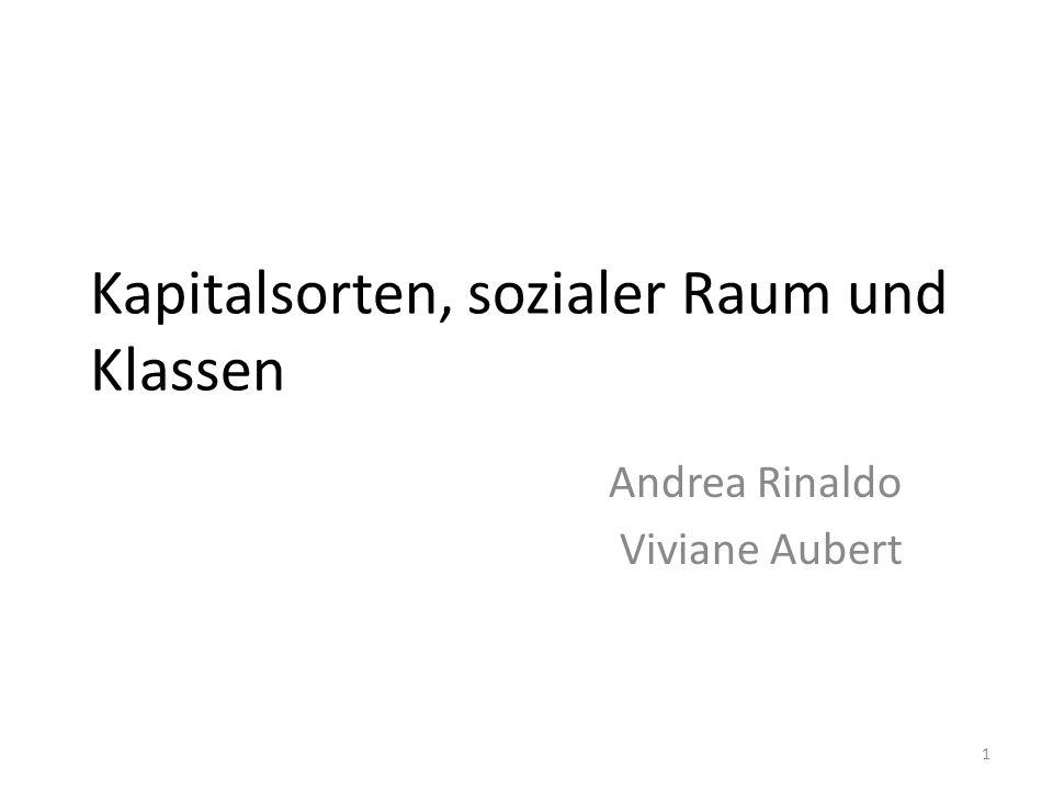 Kapitalsorten, sozialer Raum und Klassen