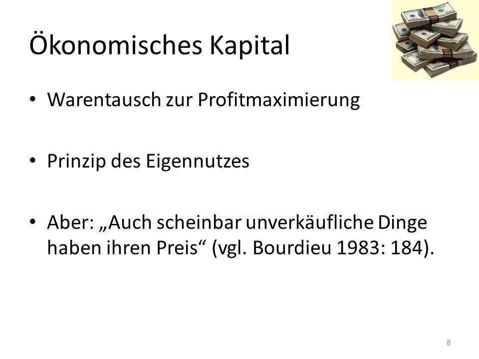 Ökonomisches Kapital Warentausch zur Profitmaximierung