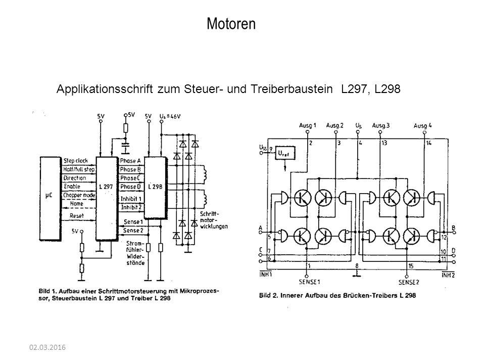 Motoren Applikationsschrift zum Steuer- und Treiberbaustein L297, L298