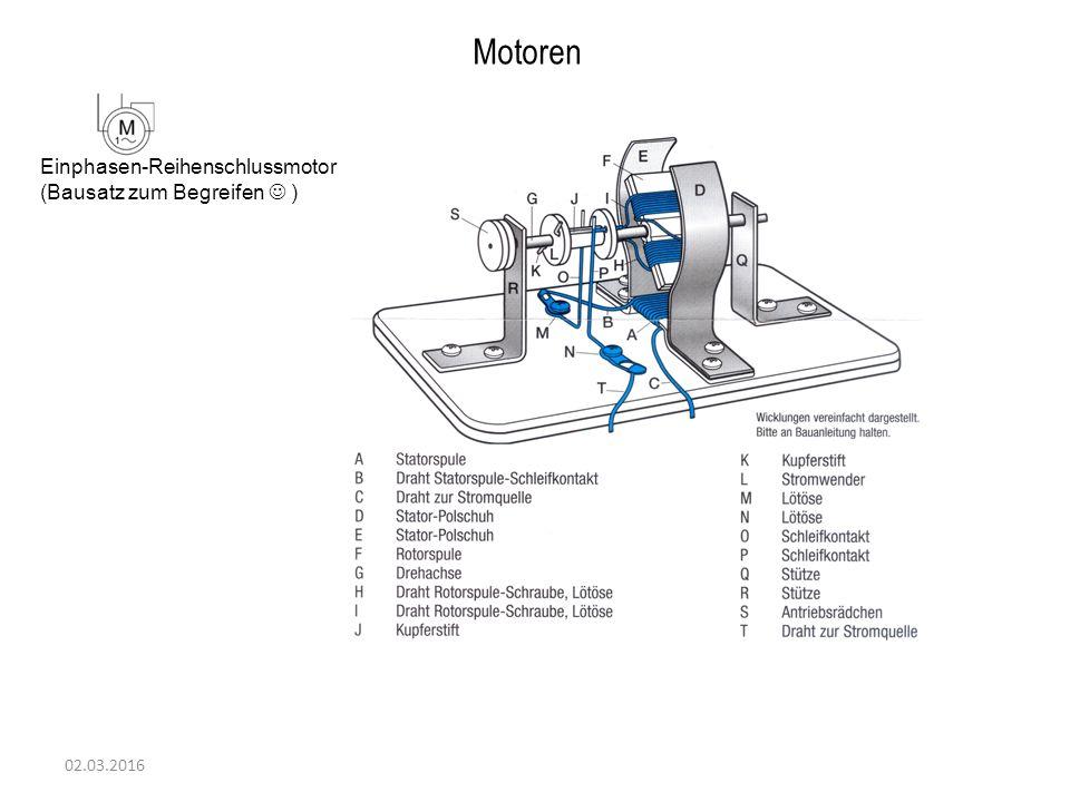 Motoren Einphasen-Reihenschlussmotor (Bausatz zum Begreifen  )