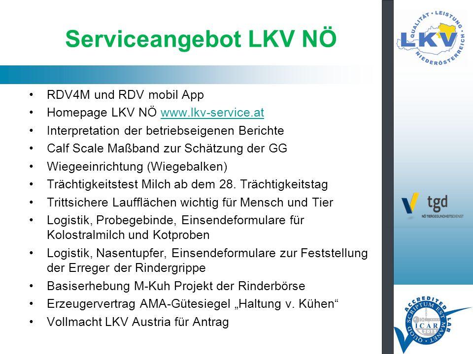 Serviceangebot LKV NÖ RDV4M und RDV mobil App