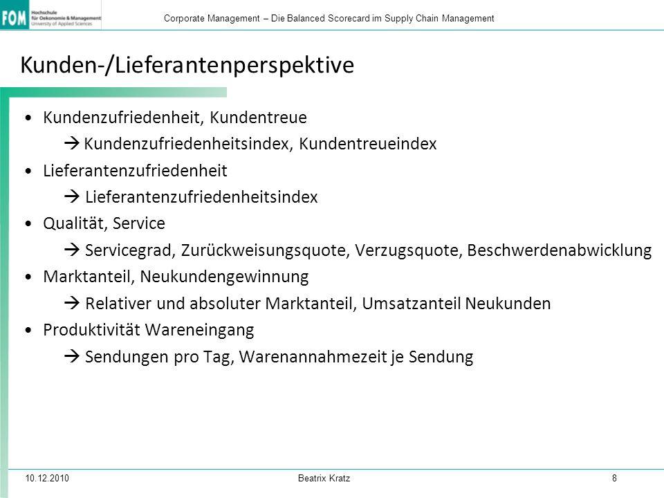Kunden-/Lieferantenperspektive