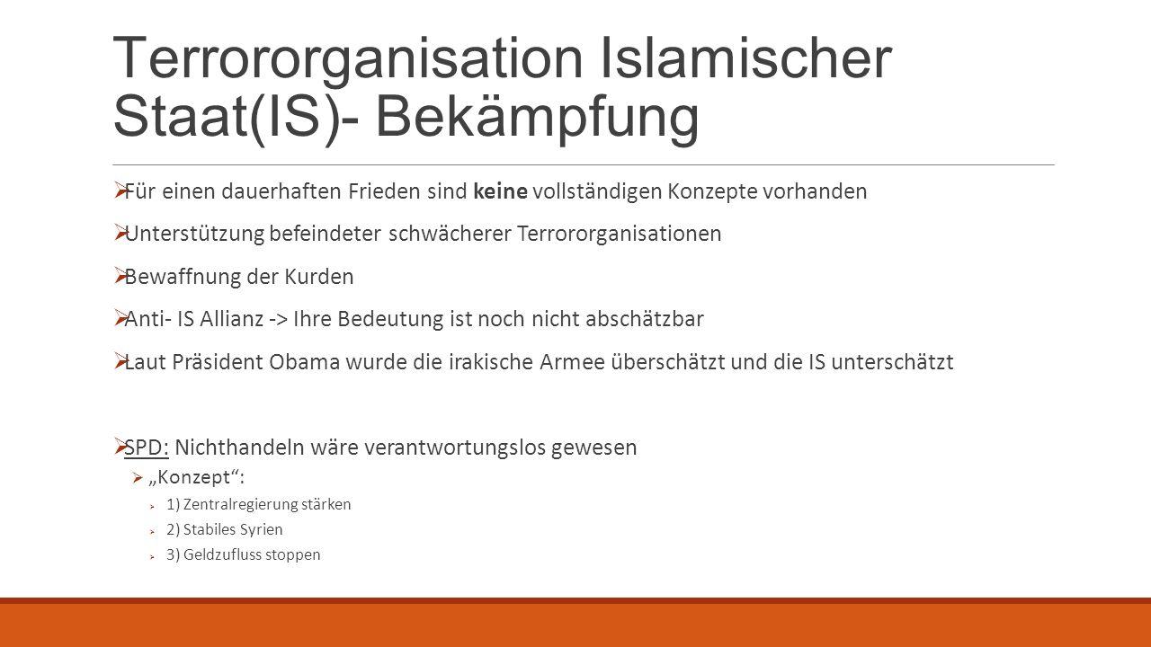 Terrororganisation Islamischer Staat(IS)- Bekämpfung