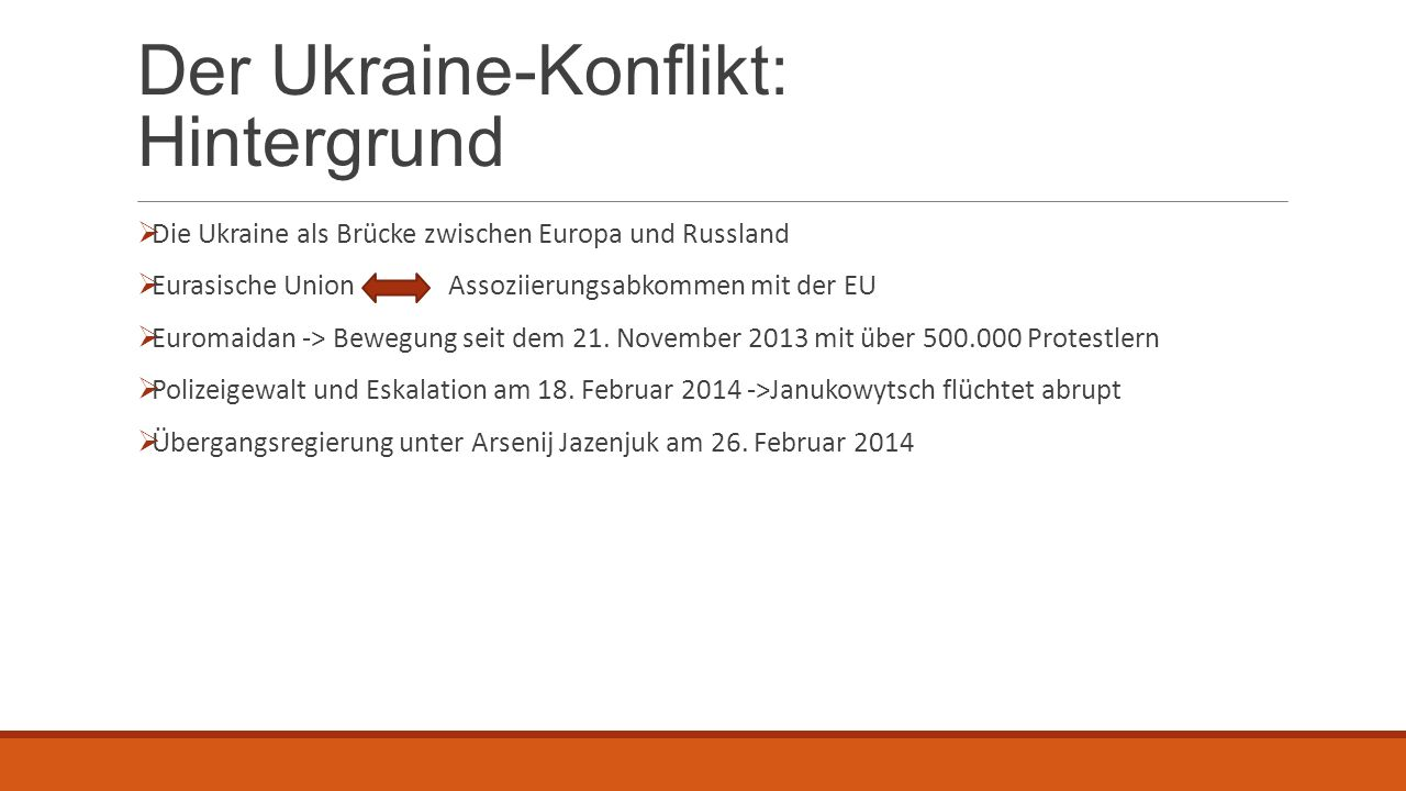 Der Ukraine-Konflikt: Hintergrund