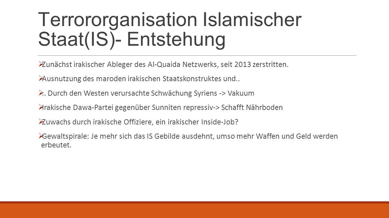 Terrororganisation Islamischer Staat(IS)- Entstehung