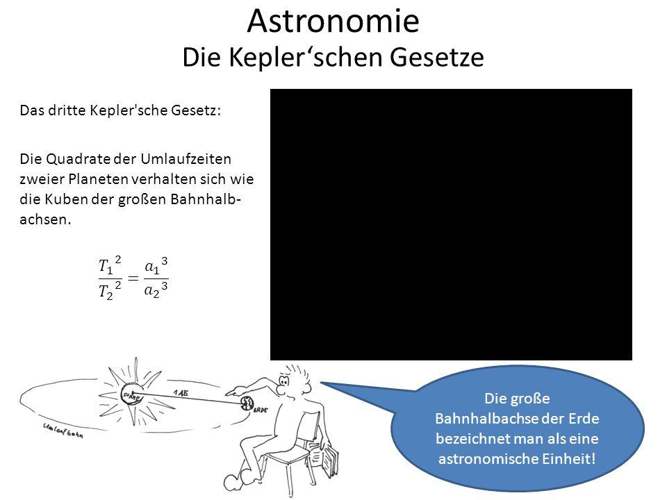 Astronomie Die Kepler'schen Gesetze Das dritte Kepler sche Gesetz: