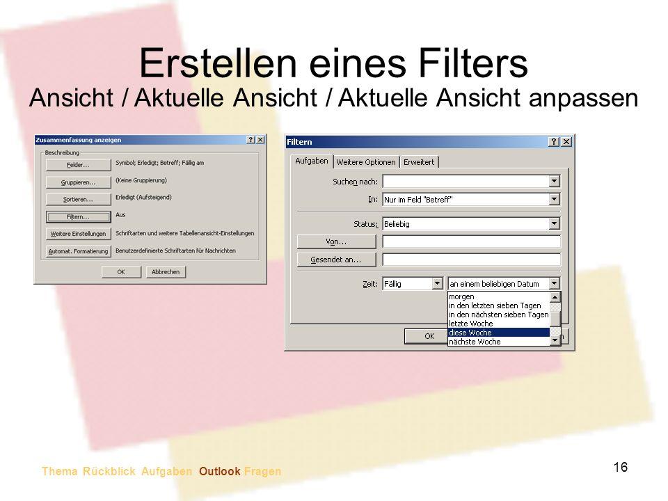Erstellen eines Filters