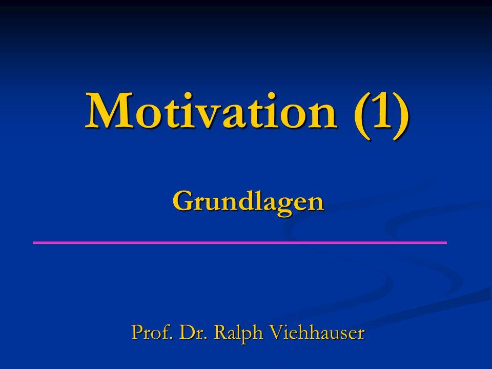 Motivation (1) Grundlagen