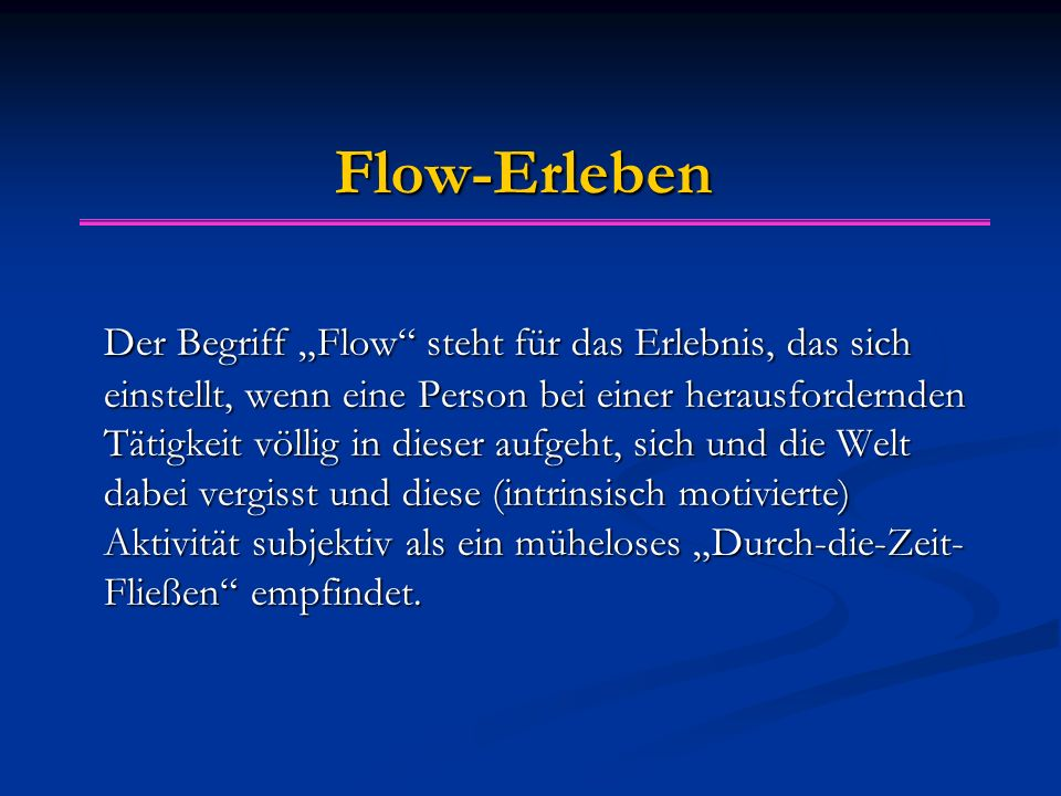 Flow-Erleben