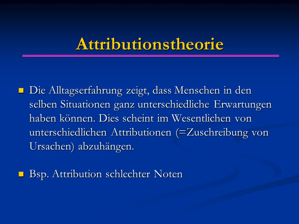 Attributionstheorie