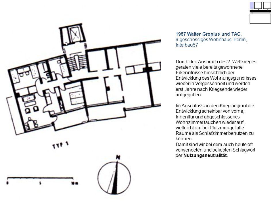 9-geschossiges Wohnhaus, Berlin, Interbau57
