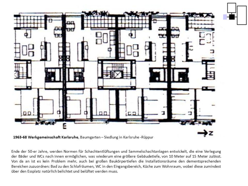 1963-68 Werkgemeinschaft Karlsruhe, Baumgarten – Siedlung in Karlsruhe -Rüppur