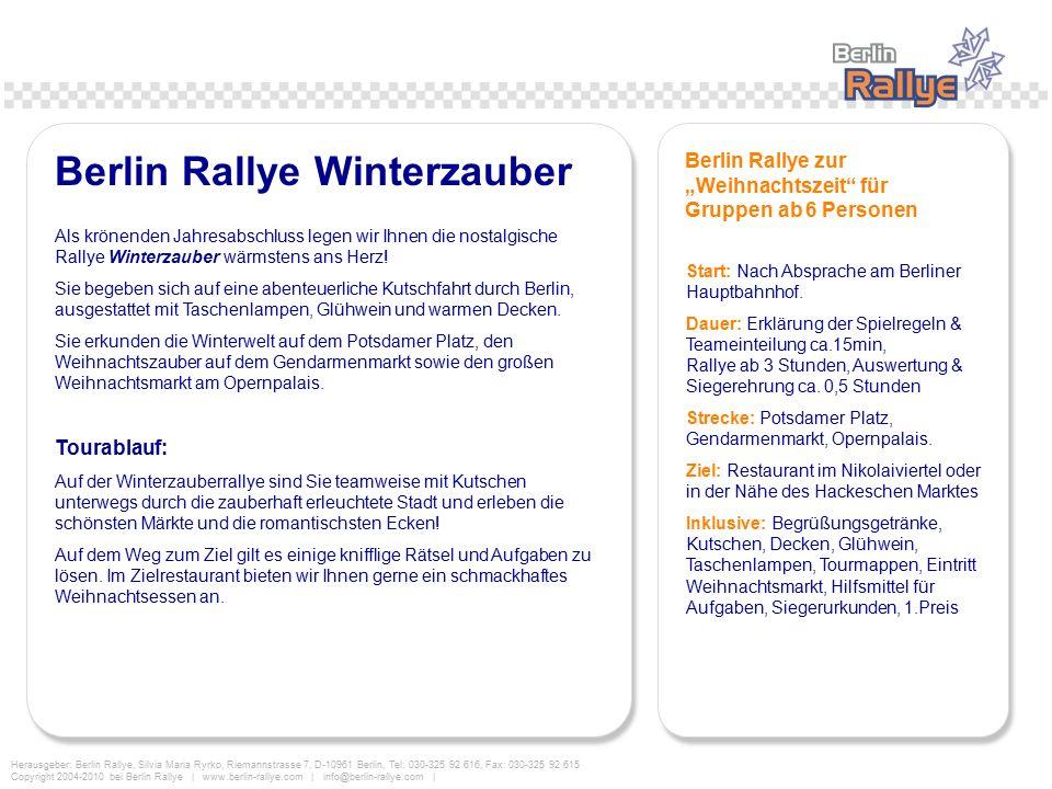 Berlin Rallye Winterzauber