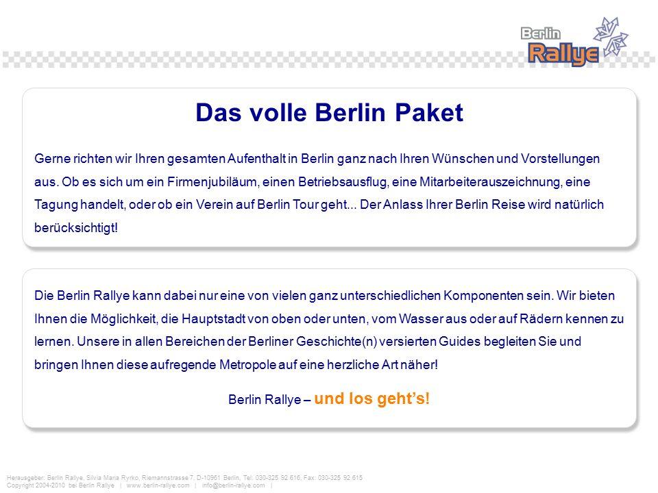 Berlin Rallye – und los geht's!