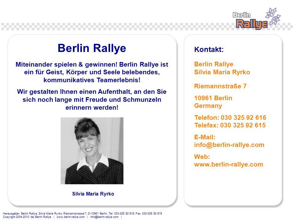 Berlin Rallye Kontakt: Berlin Rallye Silvia Maria Ryrko