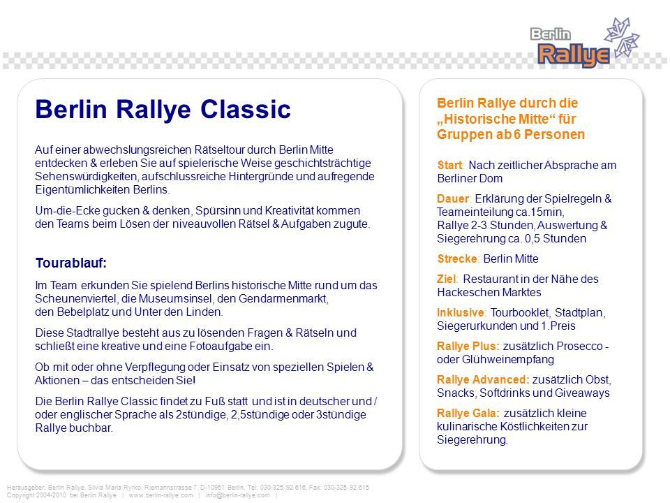 """Berlin Rallye durch die """"Historische Mitte für Gruppen ab 6 Personen"""
