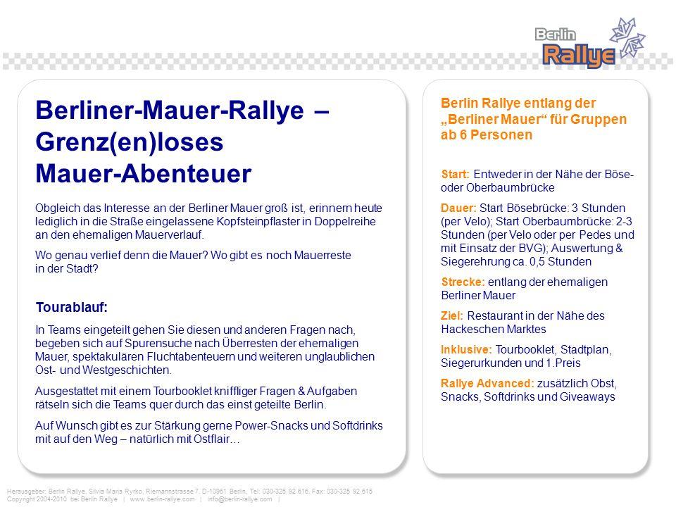 Berliner-Mauer-Rallye – Grenz(en)loses Mauer-Abenteuer