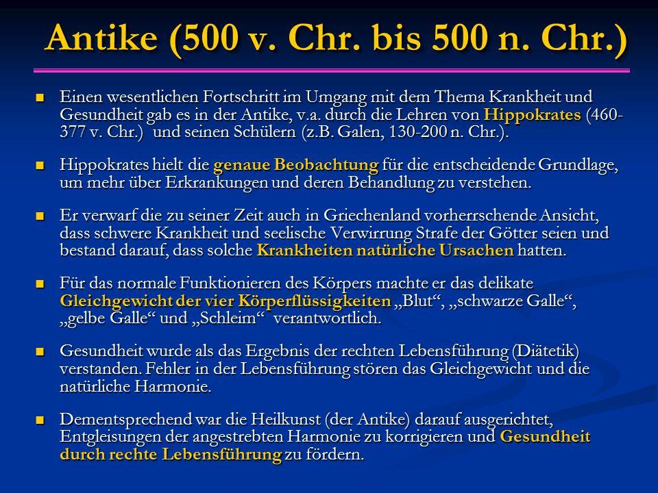 Antike (500 v. Chr. bis 500 n. Chr.)