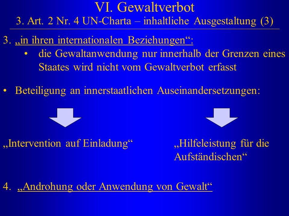 VI. Gewaltverbot 3. Art. 2 Nr. 4 UN-Charta – inhaltliche Ausgestaltung (3)