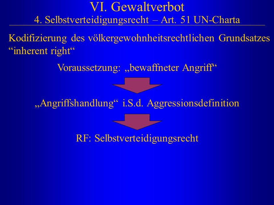 VI. Gewaltverbot 4. Selbstverteidigungsrecht – Art. 51 UN-Charta