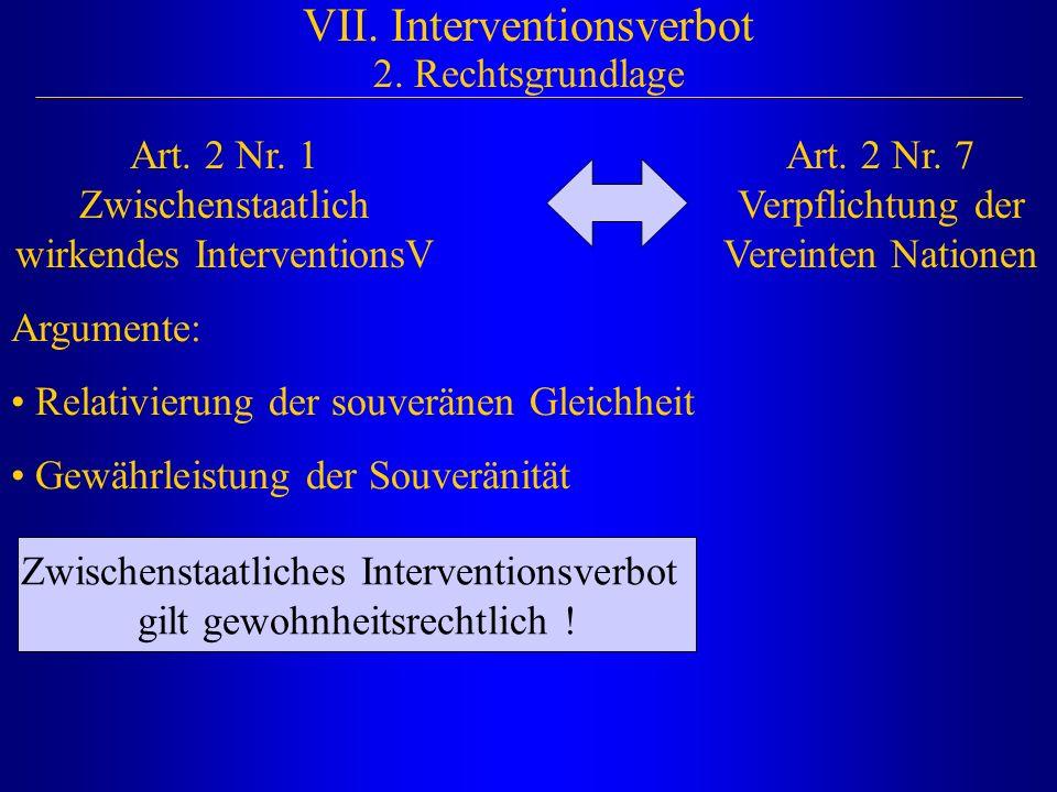 VII. Interventionsverbot 2. Rechtsgrundlage