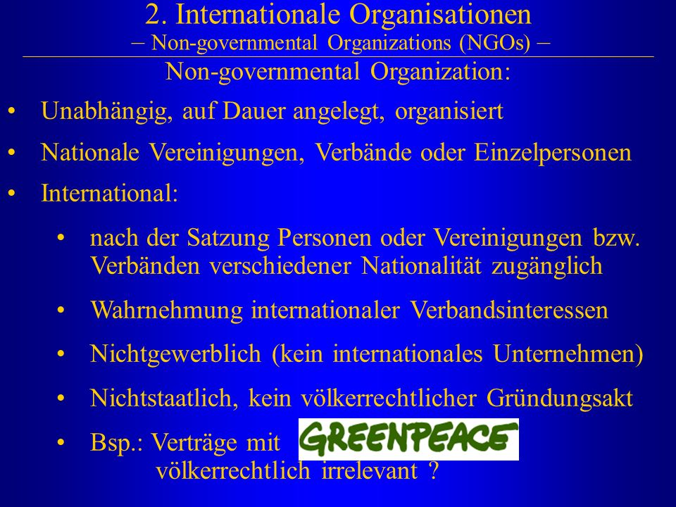 Non-governmental Organization: