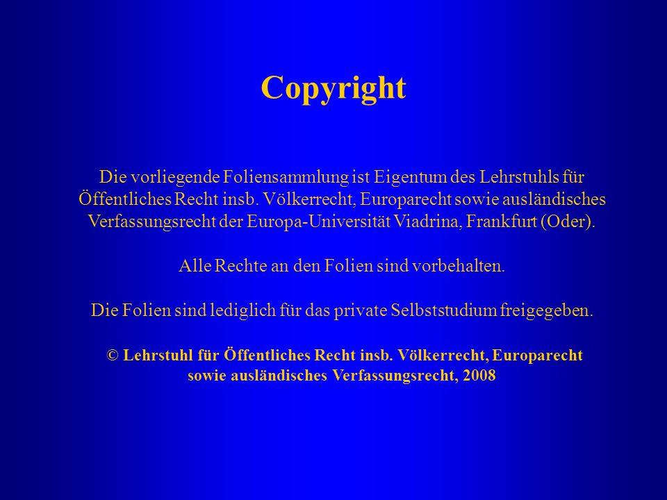 sowie ausländisches Verfassungsrecht, 2008