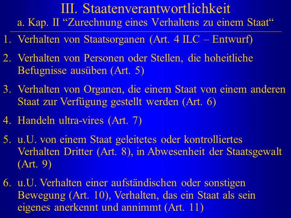III. Staatenverantwortlichkeit a. Kap