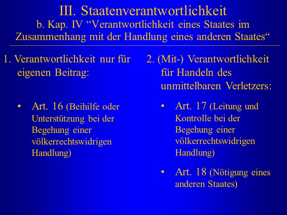 III. Staatenverantwortlichkeit b. Kap