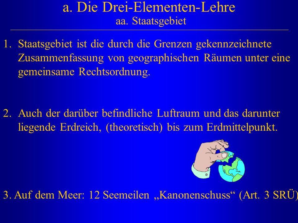 a. Die Drei-Elementen-Lehre aa. Staatsgebiet