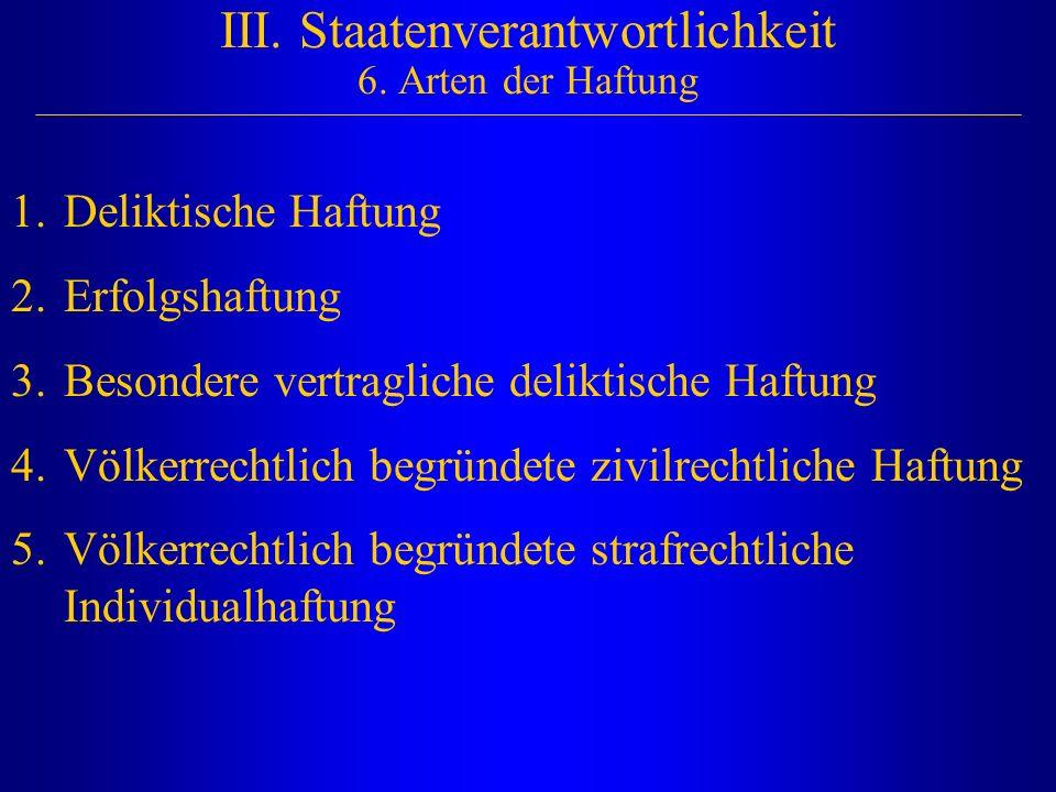 III. Staatenverantwortlichkeit 6. Arten der Haftung