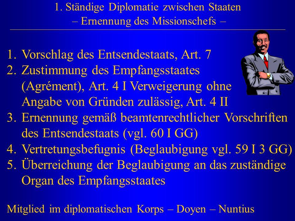 Vorschlag des Entsendestaats, Art. 7